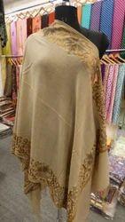 Printed Wool Blend Cashmere Aari Border Square Shawls