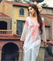 White And Orange Kurti