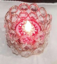 Coloured Glass Candle Votive