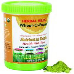 Wheat-O-Power - Organic Wheatgrass in Orange Flavor - 100 Gms