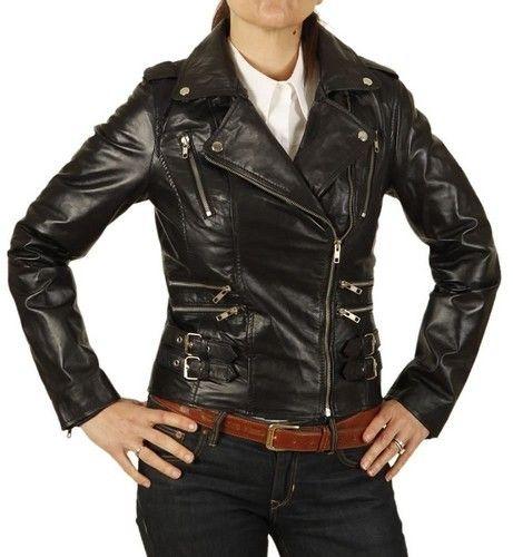 variety design 50% price shop for original Ladies Leather Biker Jacket - View Specifications & Details ...