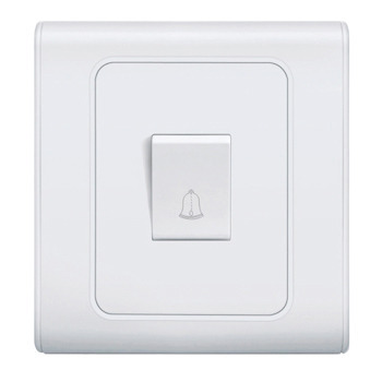 White 1 Gang Bell Push Switch