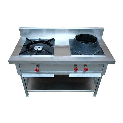 Chinese double Burner stove for hotels