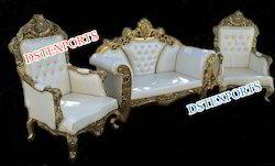 DST EXPORTS Wood Asian Wedding Maharaja Furniture - Sofa Set