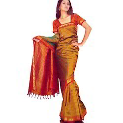 Fancy Embossed Silk Jacquard Sarees