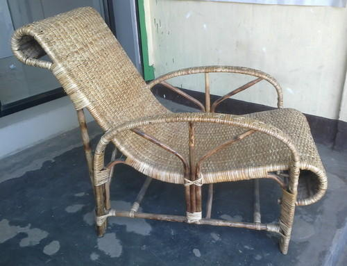 Rattan Cane Reclining Chair