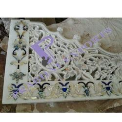 Marble Mandir Jali with Mother of Pearl Inlay Work