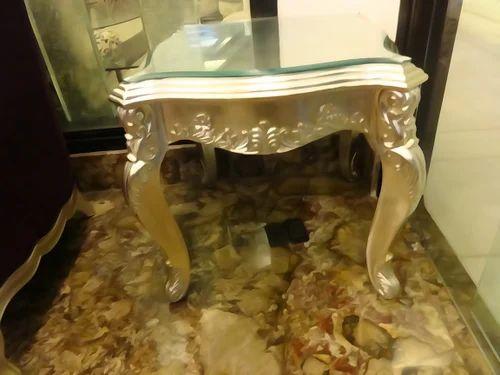Silver Leaf Furniture Finish