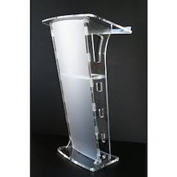 Clear Acrylic Designer Lecture Stand