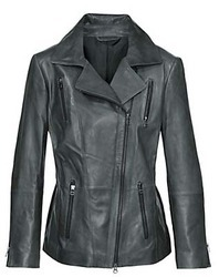 Black Albatross Real Leather Ladies Coats With SGS Lab Tests