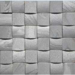 Umbra Grey 3D Mosaic Tiles
