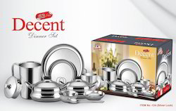 Stainless Steel Decent Dinner Set