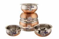 Sai Copper Base Handi 5Pcs Set