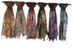 Printed 1.5-2 M Kantha Paisly Cotton Scarf
