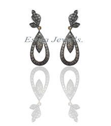 Designer Pave Diamond Earring