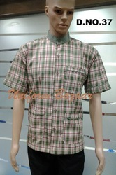 Grey Colour Restaurant Uniform With Checks