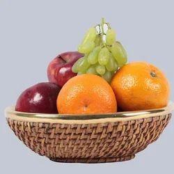 Oval Fruit Wicker Basket