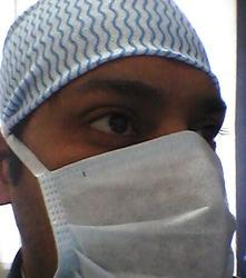 Blue Three Ply Non-Woven Surgical Face Mask