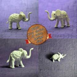 Lampwork - Flame Working Tiny Jali Glass Elephant - Crystal