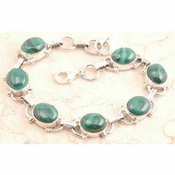 Powerful Malachite Bracelet in 925 Sterling Silver