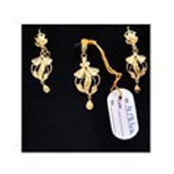 Designer gold pendant set at rs 15500 pieces gold pendant set designer gold pendant set aloadofball Images
