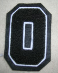 O Letter Chenille Patch
