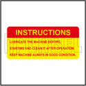 591996 Lubrication Instructions Sticker Label