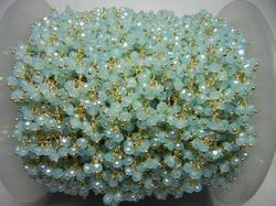 Peru Chalcedony Gemstone Dangle Chain
