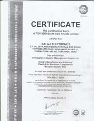 An ISO 9001:2008 Certificate