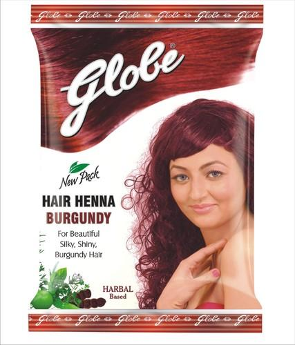 Globe Burgundy Hair Henna, Packaging Size: 10 Gms, for Personal