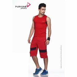 Red Sleeveless Mens Performance Jamaican Wear