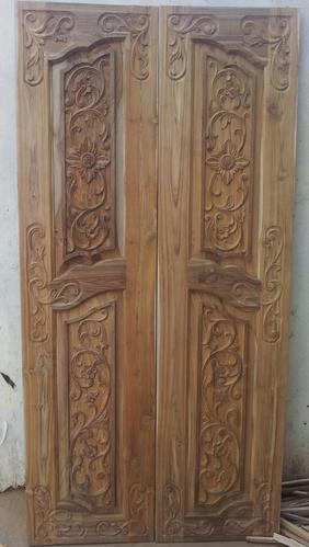 Wooden Doors Teak Double Doors Manufacturer From Hyderabad