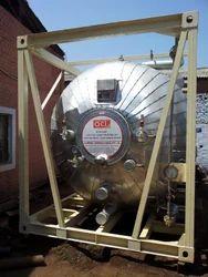 Silver Galvanized Steel ISO Tanks