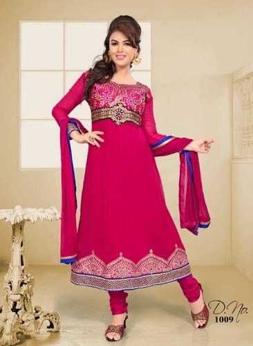 a25853711e Anarkali Semi Stiched Suit at Rs 450 /piece(s) | Semi Stitched Suits ...