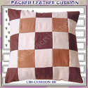 Pached Leather Cushion