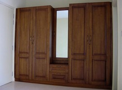 Rubber Wood Wardrobe