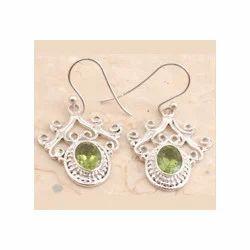 Fancy Peridot Earrings