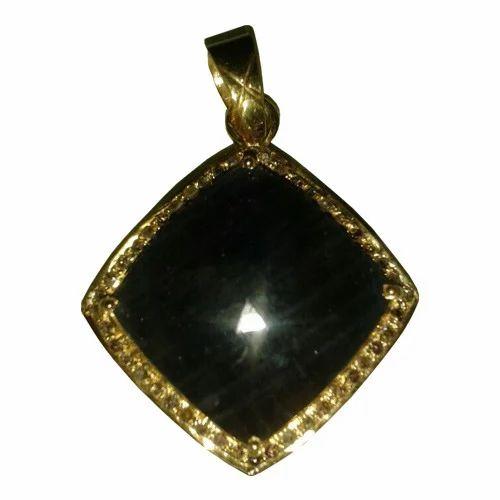 Jet stone pendant nageene jada jhumka nagoris fine jewels jet stone pendant aloadofball Image collections
