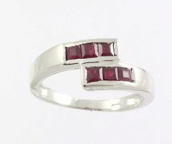 Ruby Ring in 925 Sterling Silver