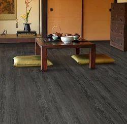 Elegant Dark Brown Vinyl Flooring, Residential Building, India