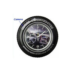Spy Tire Clock Camera