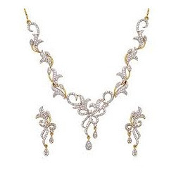 Designer Diamond Necklace Set Designer Diamond Jewellery Jhotwara