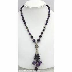 Necklace of Amethyst Gemstone