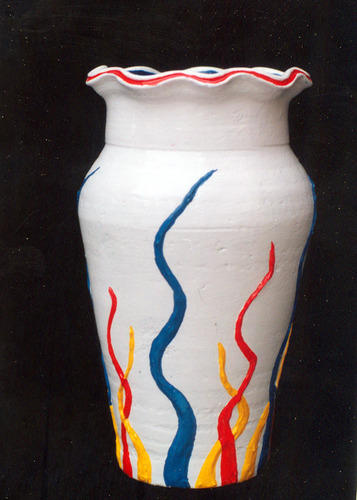 Pot painting hand crafted ceramic at rs 600 pack for Ceramic mural paintings