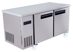 Silver Two Door Refrigerator, Capacity: Standard