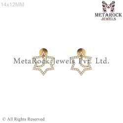 Fashion Gold Designer Diamond Earring