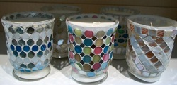 Big Mosaic Glass Candle