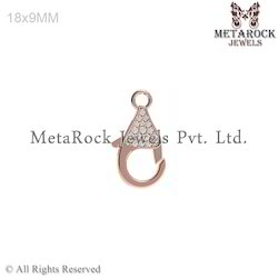 Diamond Lobster 14k Rose Gold Clasp Finding Jewelry
