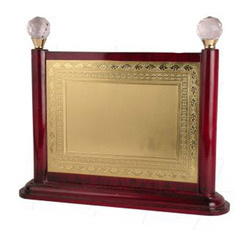 Elegant Wood Gold Plaque