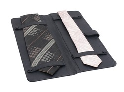 Leather Tie Case Folder